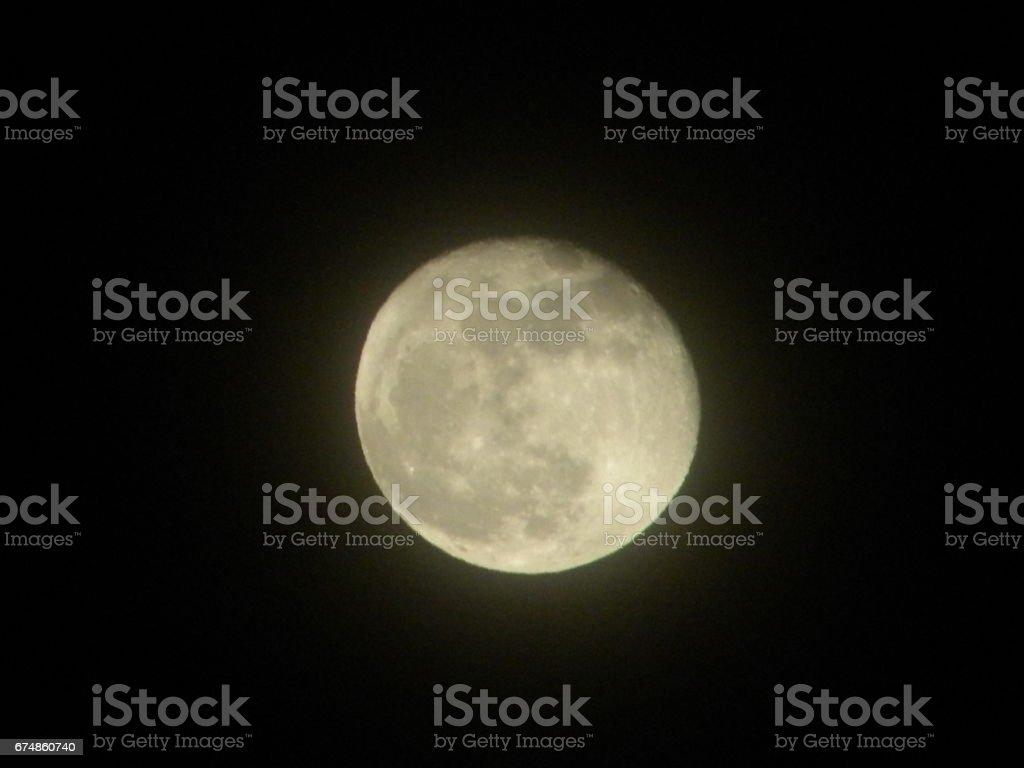 Watchful Moon stock photo