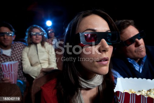 956942702 istock photo Watching a 3D movie 183040119
