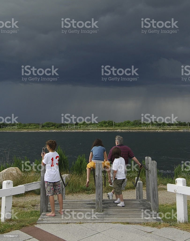 Watching a Thunderstorm, Cape Cod royalty-free stock photo