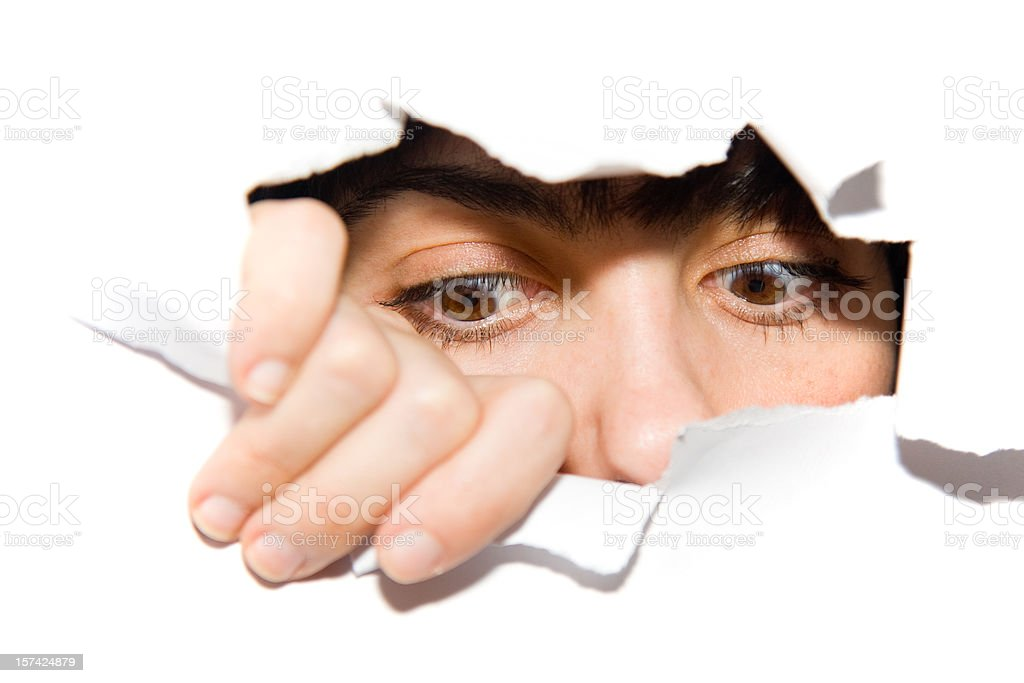 watching eyes looking downwards royalty-free stock photo