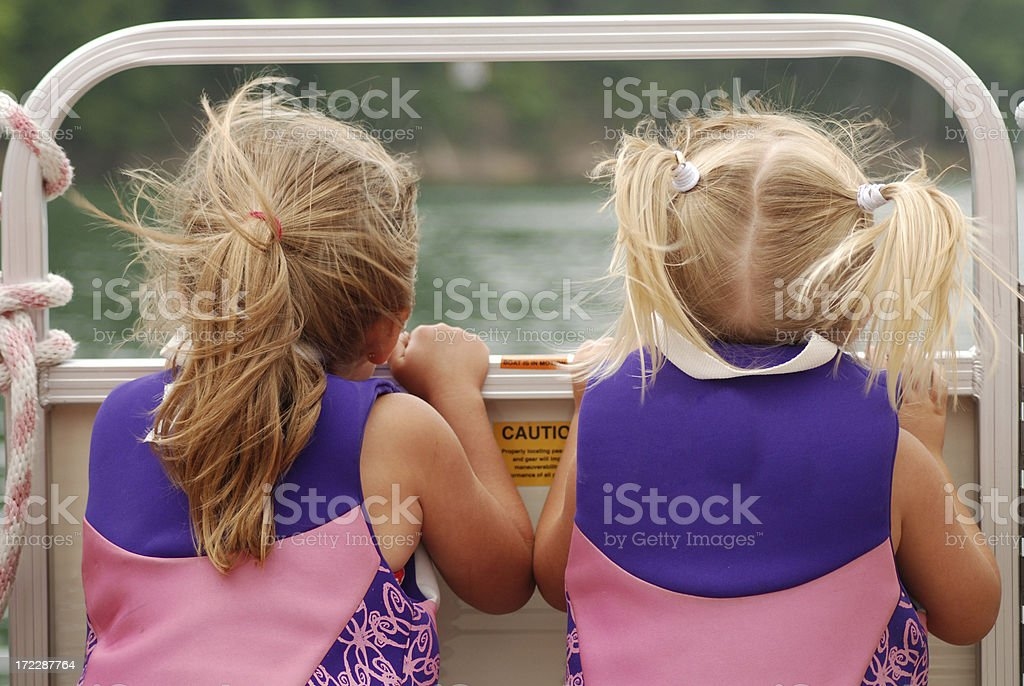 Watching in the Boat royalty-free stock photo