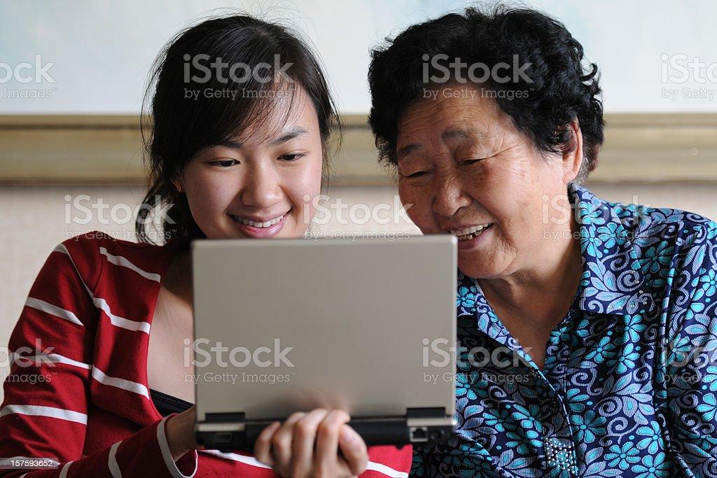 Watching Laptop - XLarge royalty-free stock photo