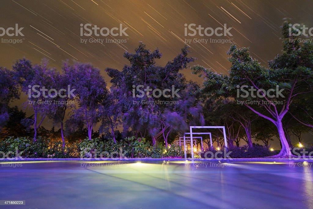 Watching meteor rain royalty-free stock photo