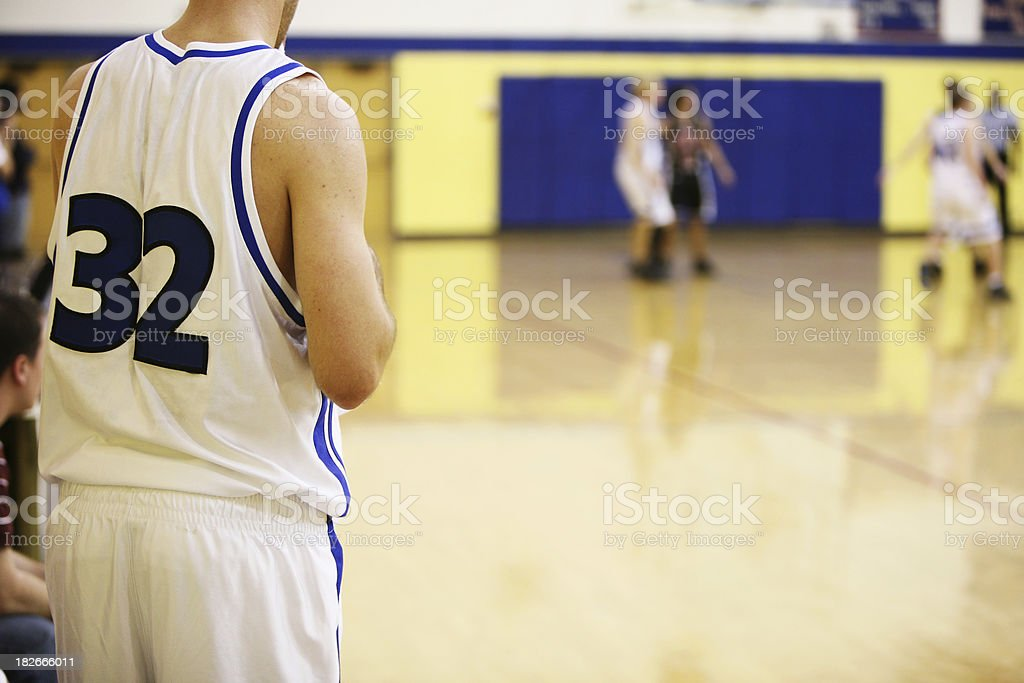 Watching on the Sideline royalty-free stock photo