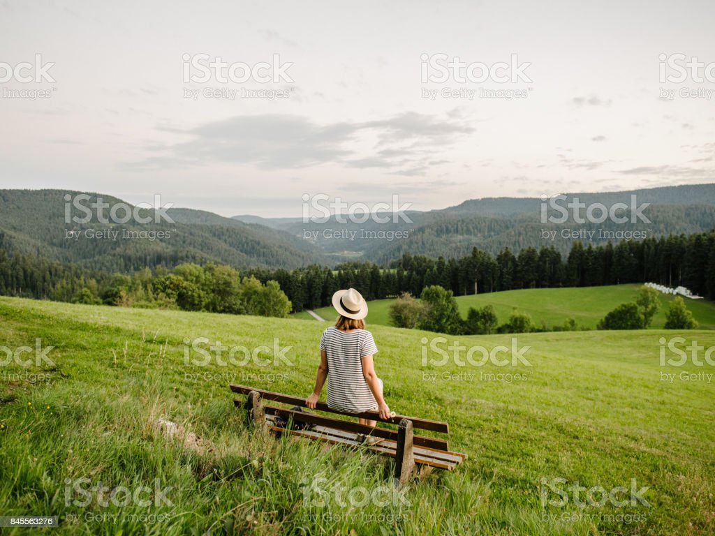 watching over black forest stock photo