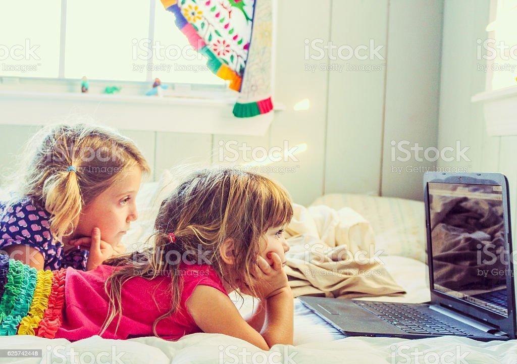 Watching stock photo