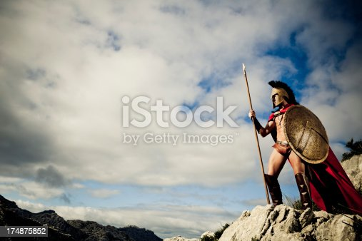 istock watching Spartan warrior 174875852