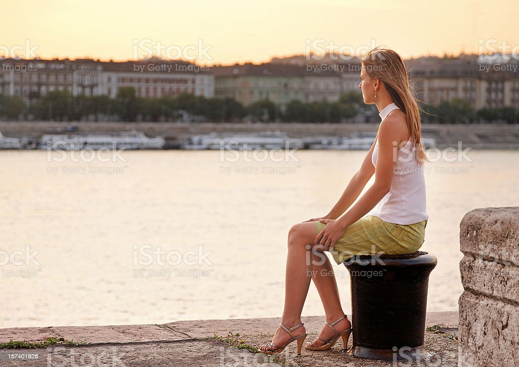 watching the city royalty-free stock photo