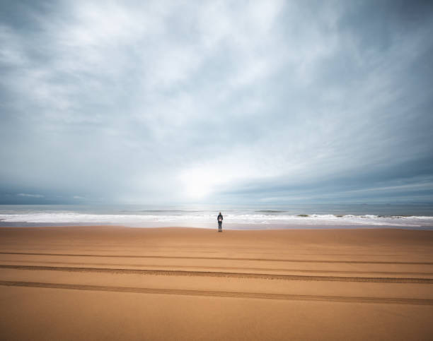 watching the ocean - borchee stock pictures, royalty-free photos & images