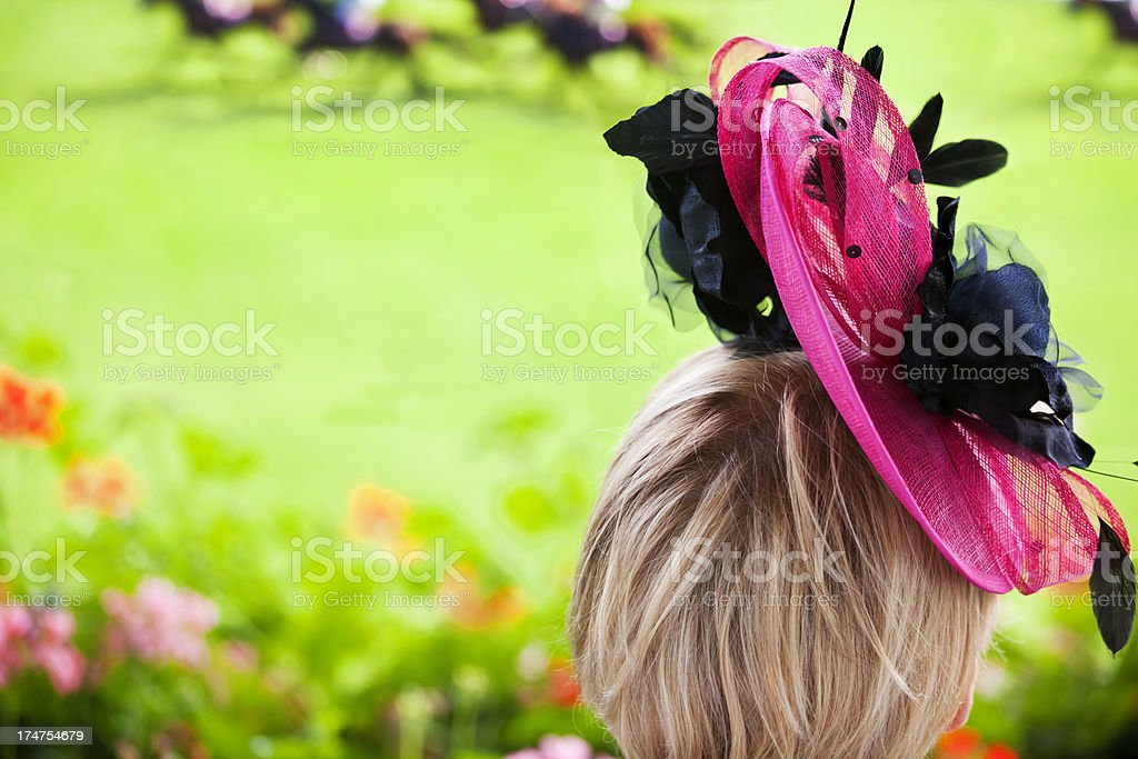 Watching the Races royalty-free stock photo