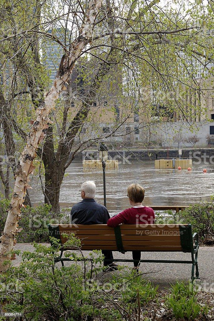 Frente al río de flujo foto de stock libre de derechos