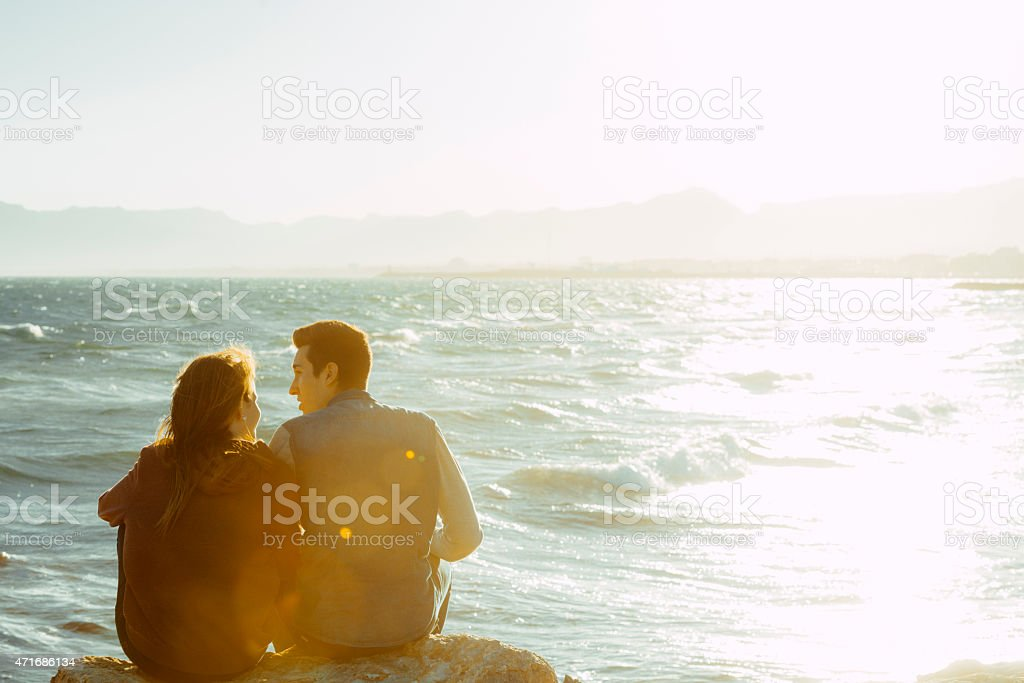 Watching the sea royalty-free stock photo