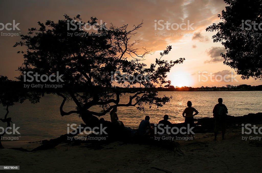 Watching The Sun Set royalty-free stock photo