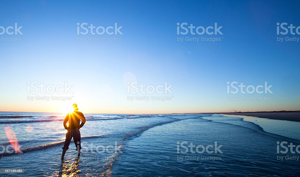 Watching the sunrise royalty-free stock photo