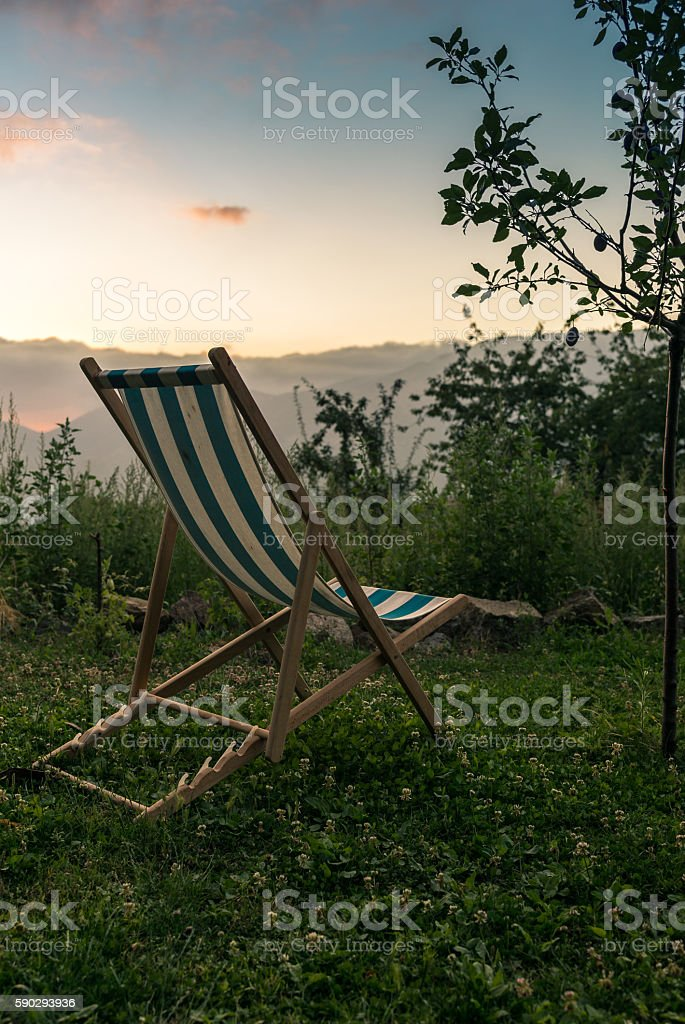 Watching the sunset in a village in Corsica - 2 royaltyfri bildbanksbilder
