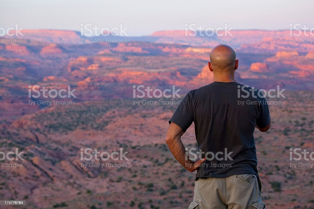 watching the sunset landscape royalty-free stock photo