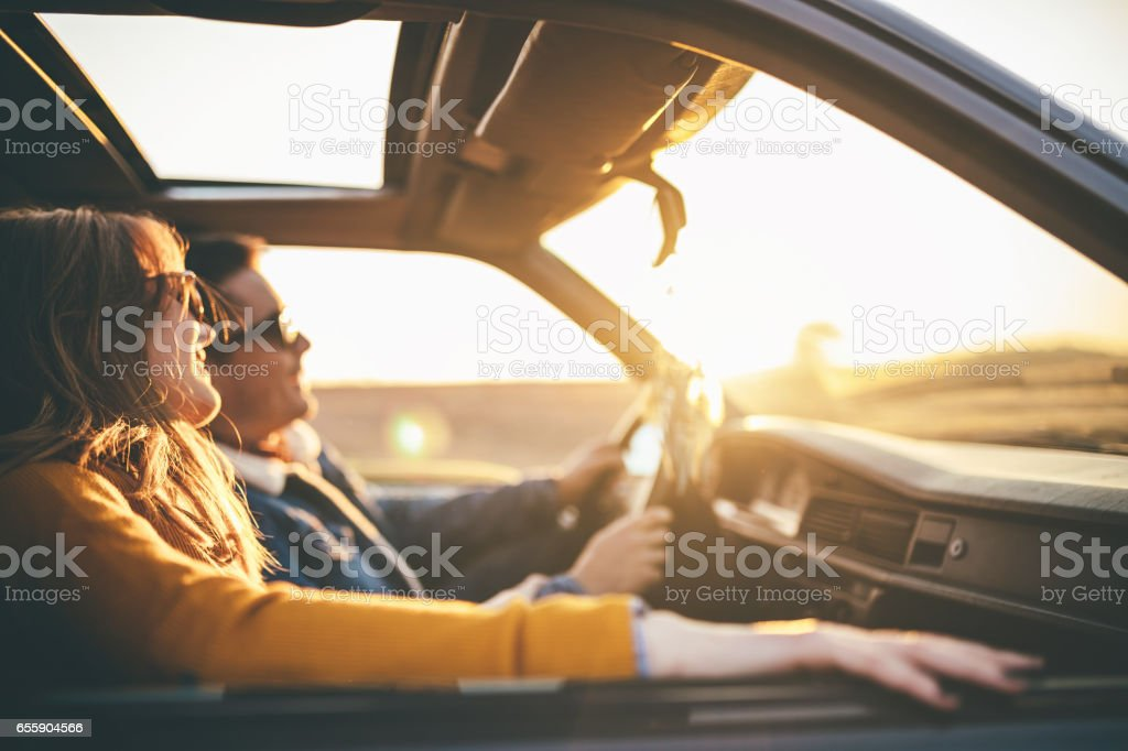 Watching the sunset royalty-free stock photo