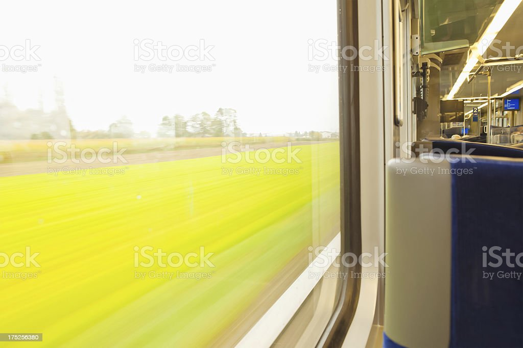 Watching the View from a Train royalty-free stock photo
