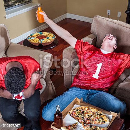 watching tv football ecstasy of victory and agony of