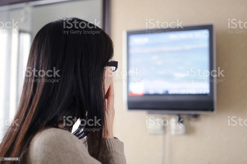 Watching TV - XLarge stock photo