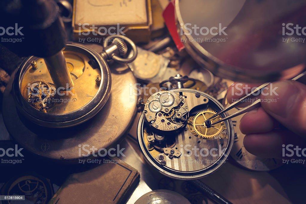Uhrmacher Handwerkskunst – Foto