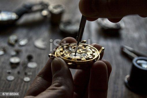 istock Watchmaker's workshop 678165044