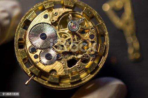 istock Watchmaker's workshop, watch repair 918681838