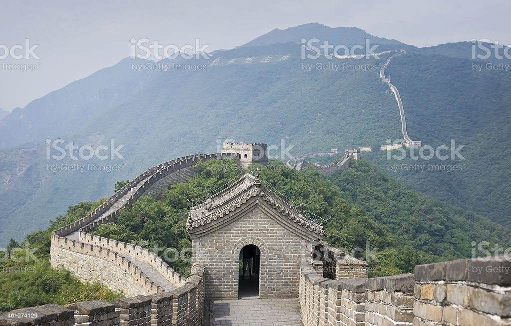 Watchtower at Mutianyu Site on Great Wall of China royalty-free stock photo