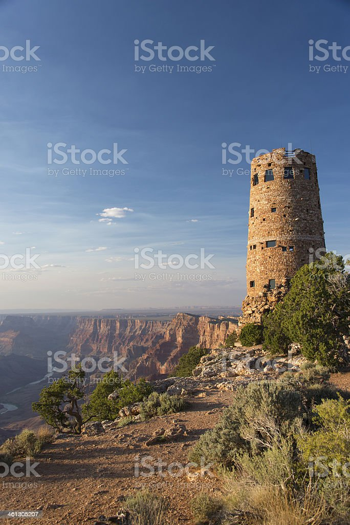 Watchtower at Sunset stock photo