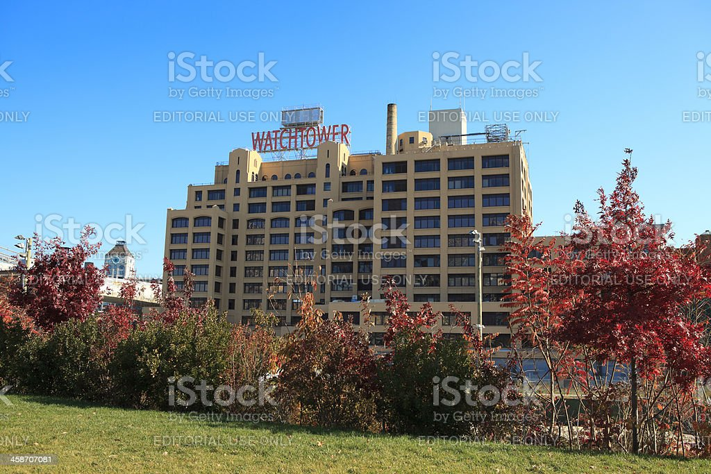 Watchtower Building, Brooklyn Heights, NY stock photo