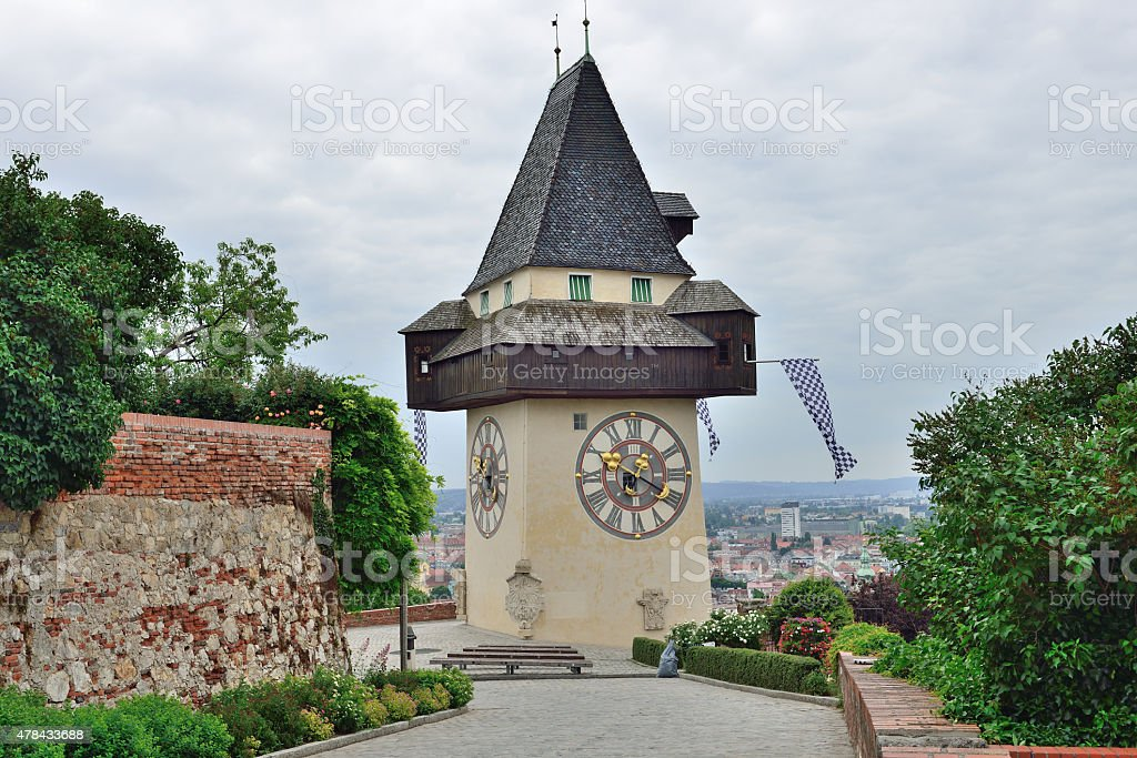 Watchtower in Graz / Styria / Austria stock photo