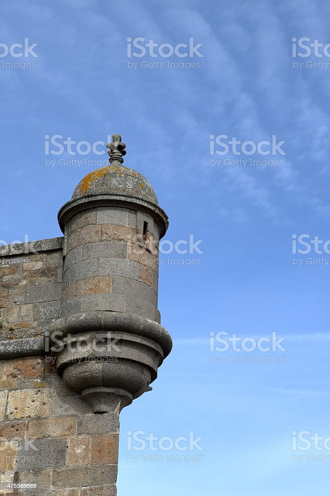 Watchtower in Saint-Malo, France stock photo