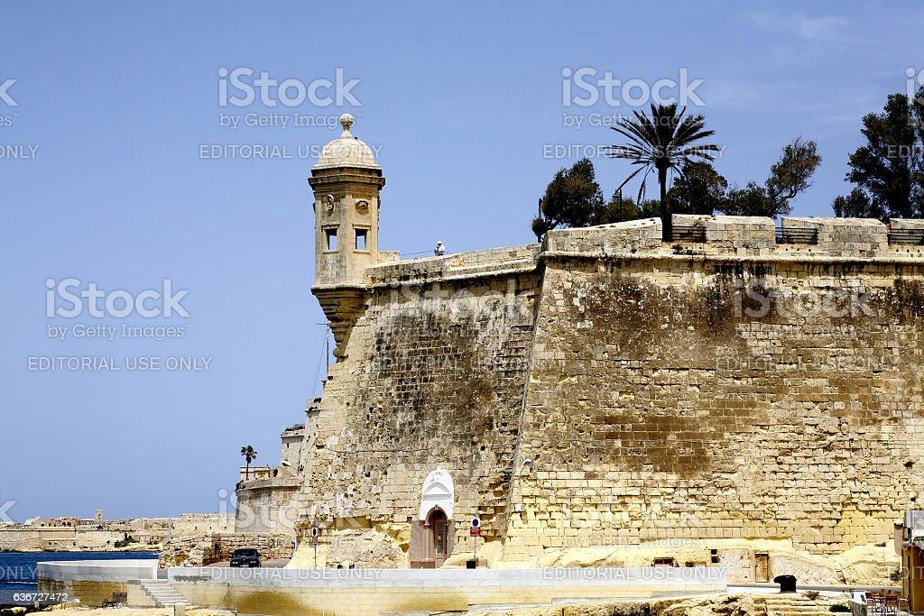 Watchtower, Malta. stock photo