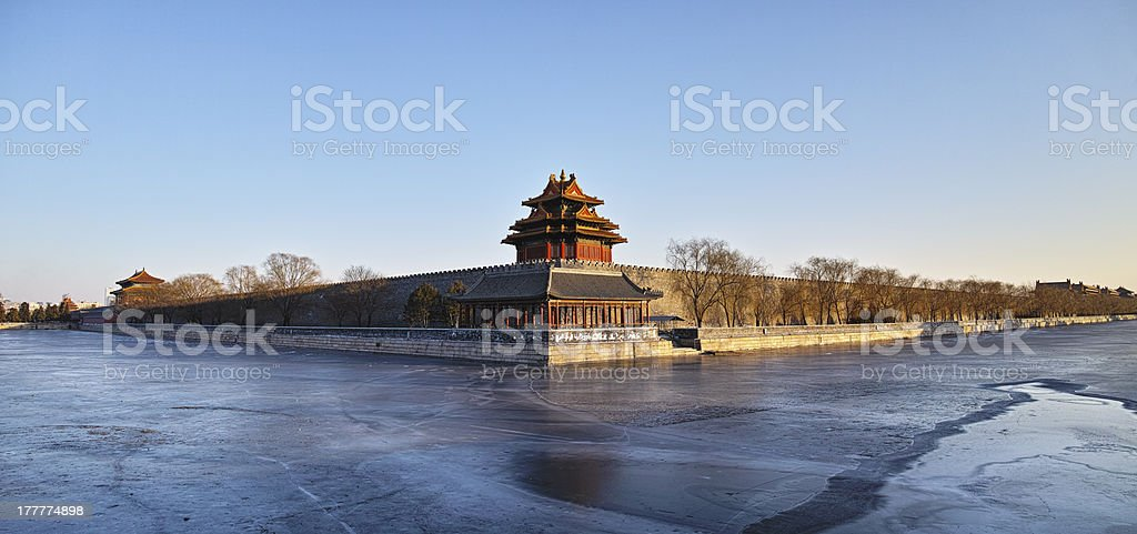 Watchtower of Forbidden City royalty-free stock photo