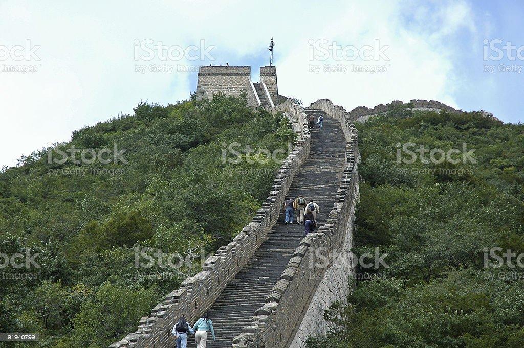 watchtower on MuTianYu Great Wall royalty-free stock photo