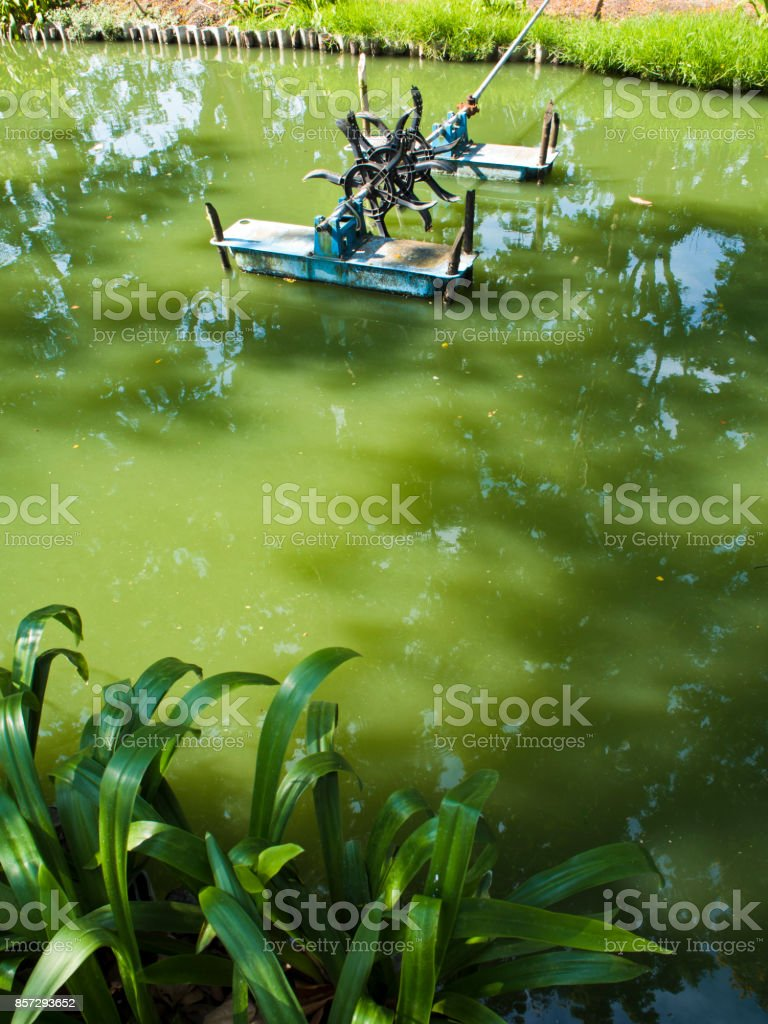 Water aeration stock photo