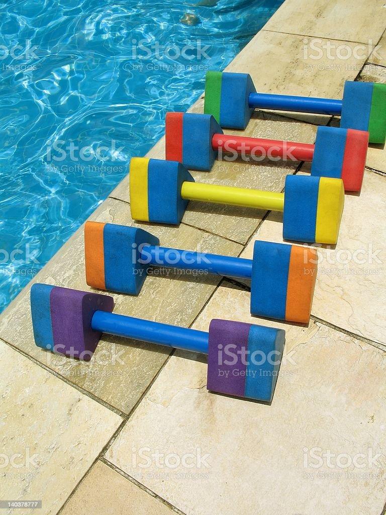 Water aerobics - 2 stock photo