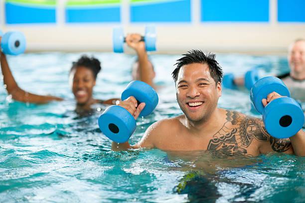 Acqua aerobica gruppo - foto stock