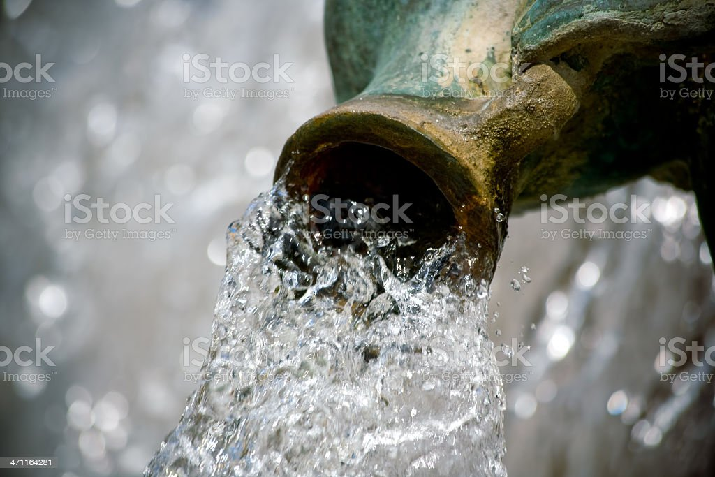 Water and amphora stock photo