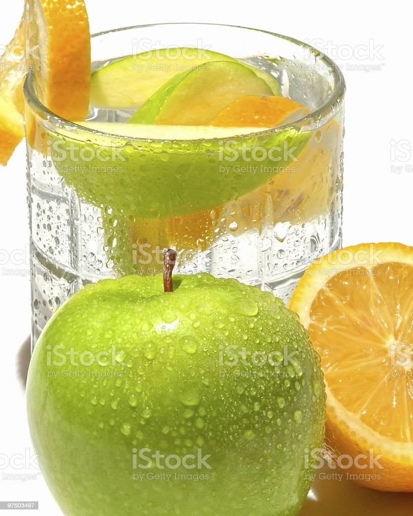 Water and Fruit royalty-free stock photo