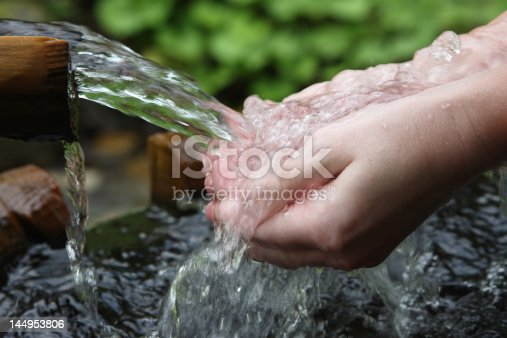 istock water and hands 144953806