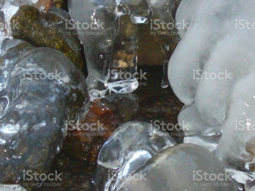 Water and Ice stock photo