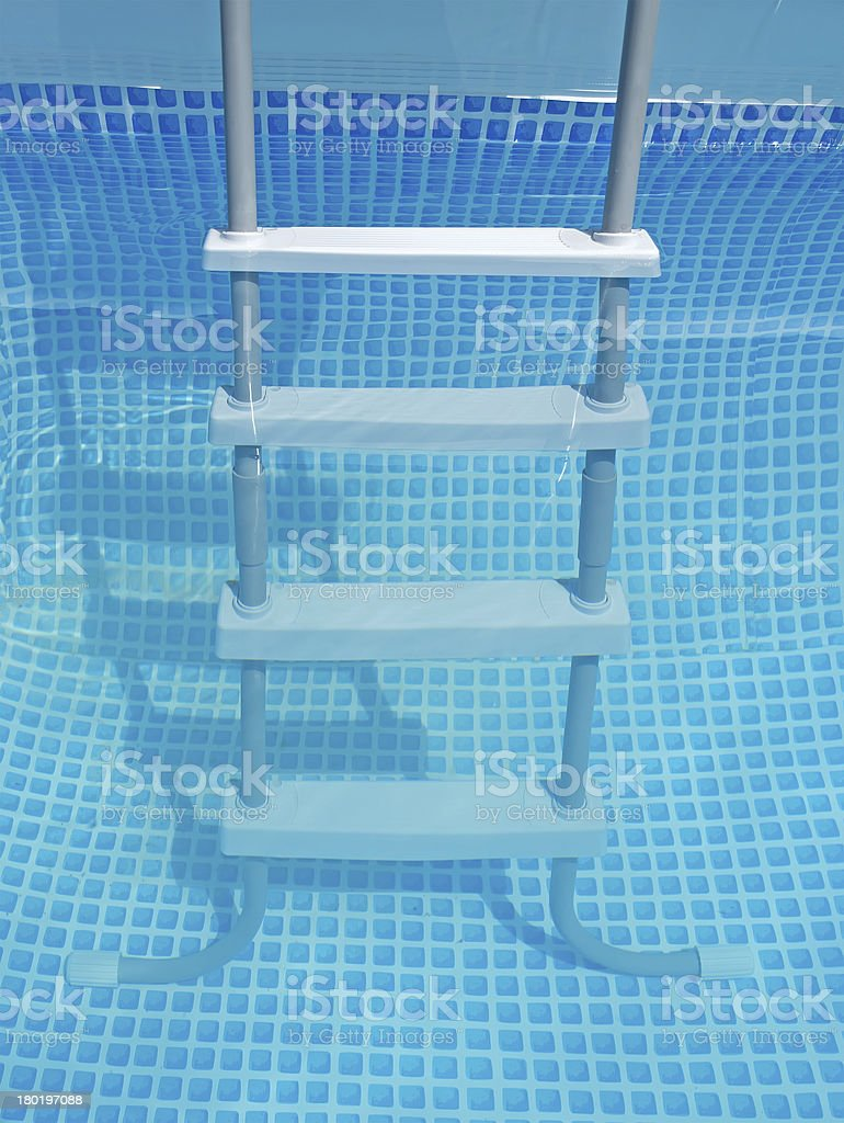 water and ladder stock photo