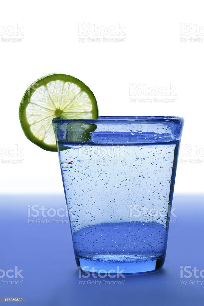 Water and lime royalty-free stock photo