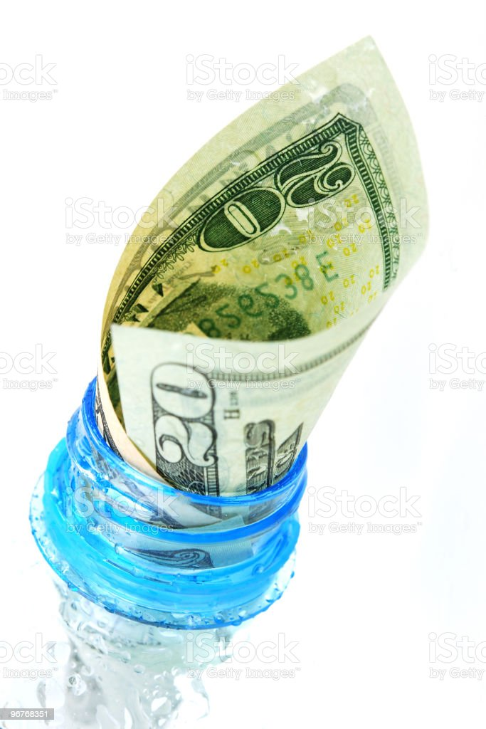 Water and money royalty-free stock photo
