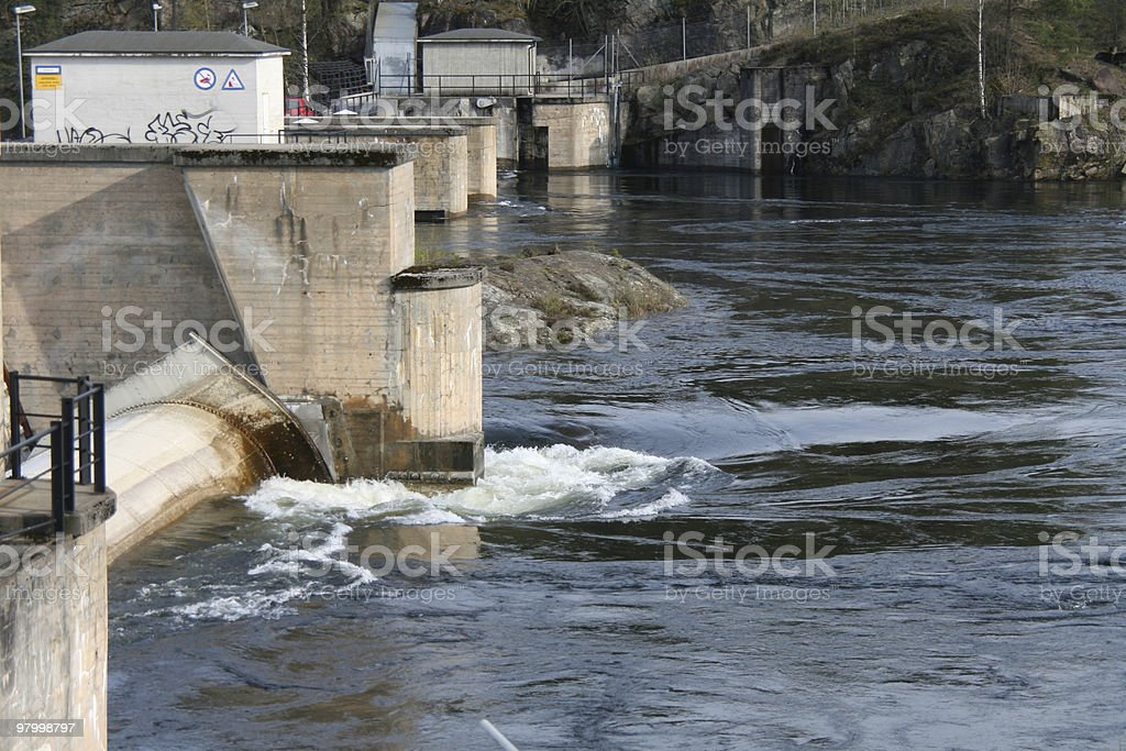 Water and power. royalty-free stock photo