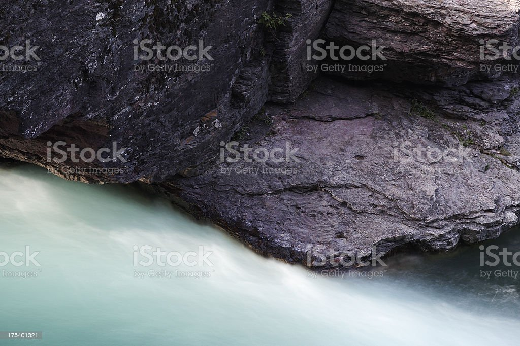 Water and rock stock photo
