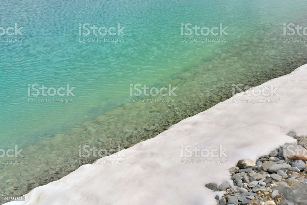 water and snow royalty-free stock photo