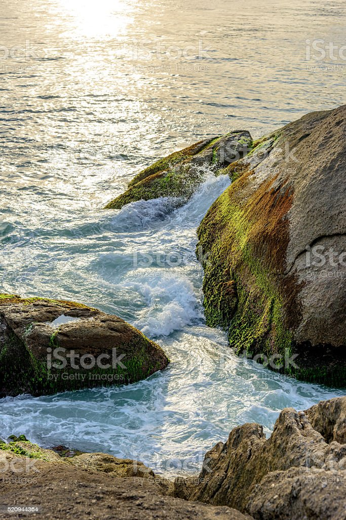Water and stones stock photo