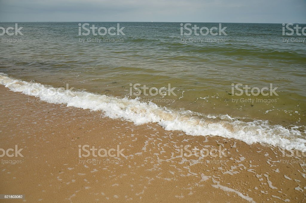 Water and Waves of Chesapeake  Bay, Virginia stock photo